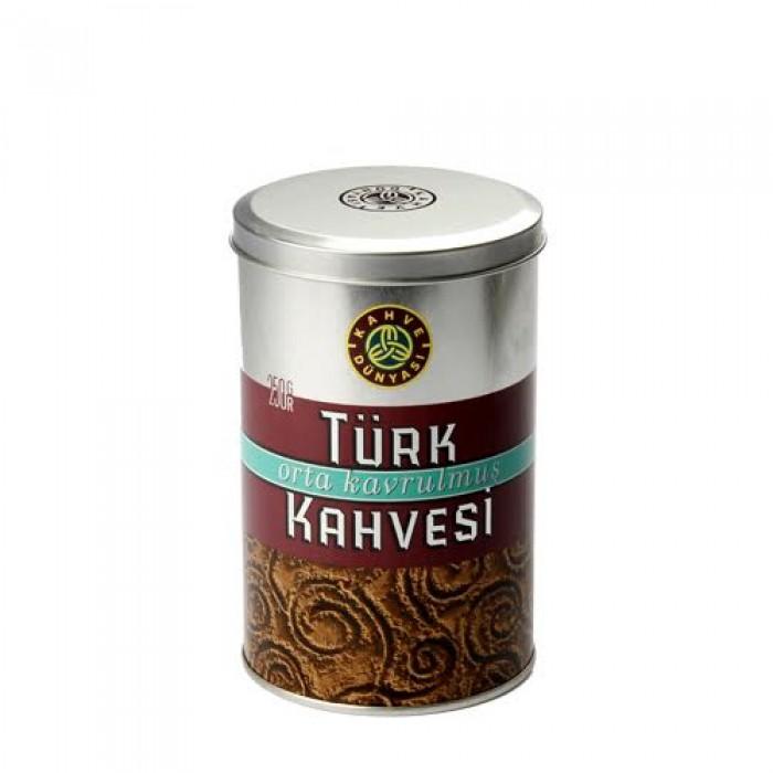 Kahve Dünyası Türk Kahvesi Orta Kavrulmuş Teneke 250 g