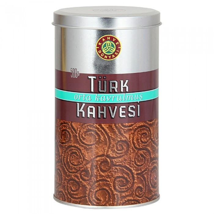 Kahve Dünyası Türk Kahvesi Orta Kavrulmuş Teneke 500 g