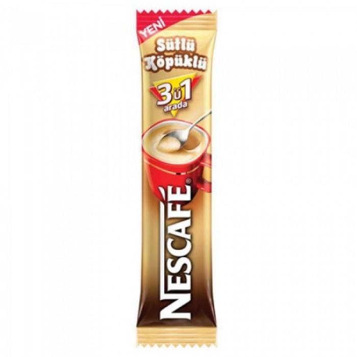 Nescafe Hazır Kahve 3'ü 1 Arada Sütlü Köpüklü 48 Adet