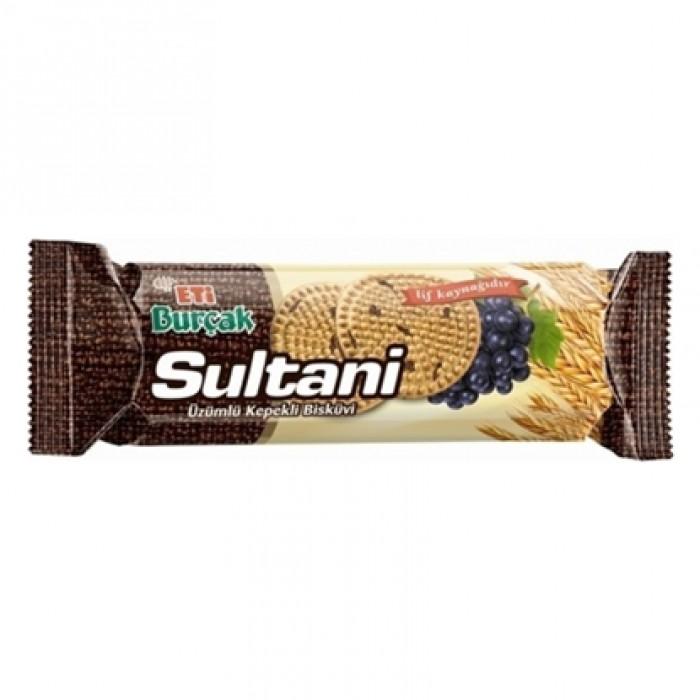Eti Burçak Sultani Üzümlü Kepekli Bisküvi 12'li