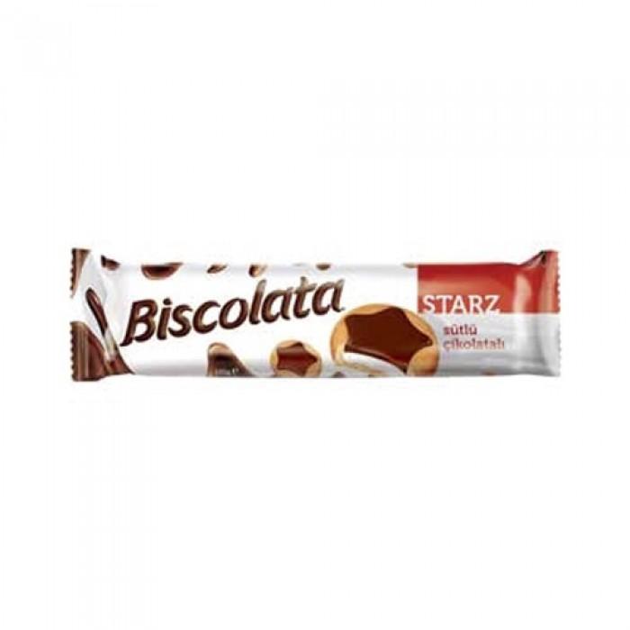 Biscolata Starz Bisküvi Sütlü Çikolatalı 62 g Koli 24 Adet