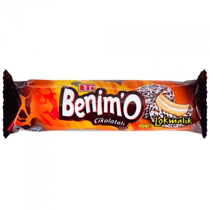 Eti Benimo Bisküvi Çikolatalı 72 g Koli 18 Adet