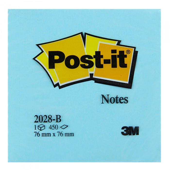 3M Post-It Not Kağıdı 76 x 76 mm Mavi Tonları 450 Yaprak