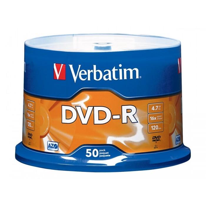 Verbatim DVD-R 43791 50 Wrap Matt Silver 16x 4.7GB