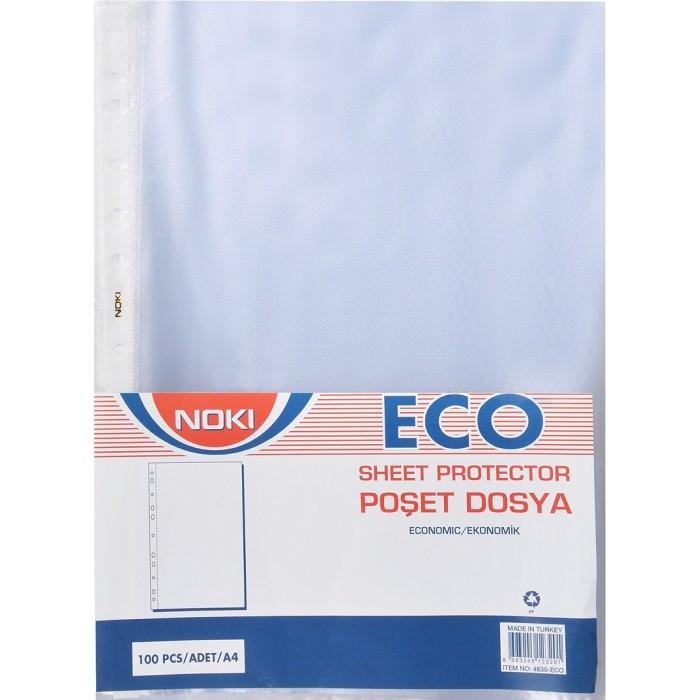 Noki Poşet Dosya A4 100'lü Paket Eco