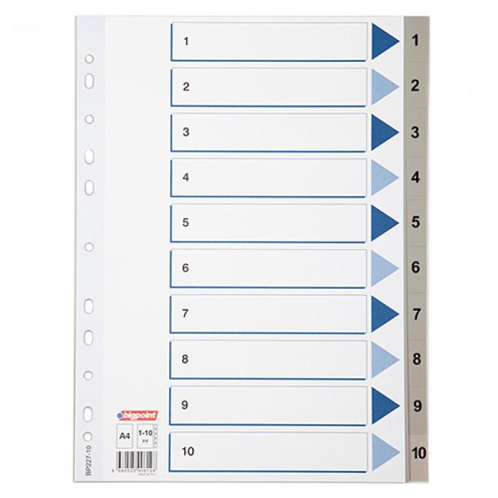 Bigpoint Seperatör A4 1-10 Rakamlı