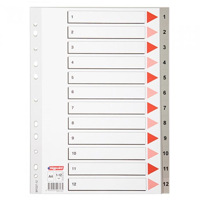 Bigpoint Seperatör A4 1-12 Rakamlı