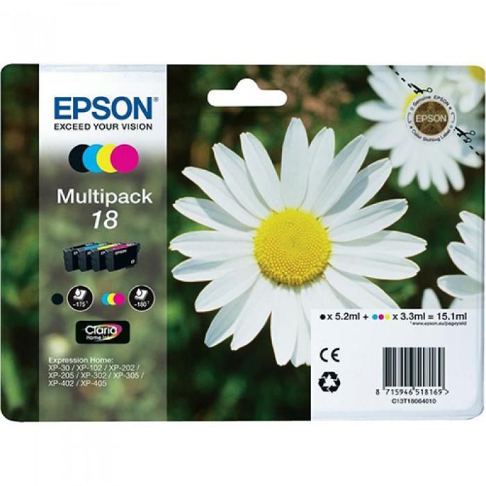Epson 18 Claria C13T18064010 C/M/Y/Bk Multipack Mürekkep Kartuş