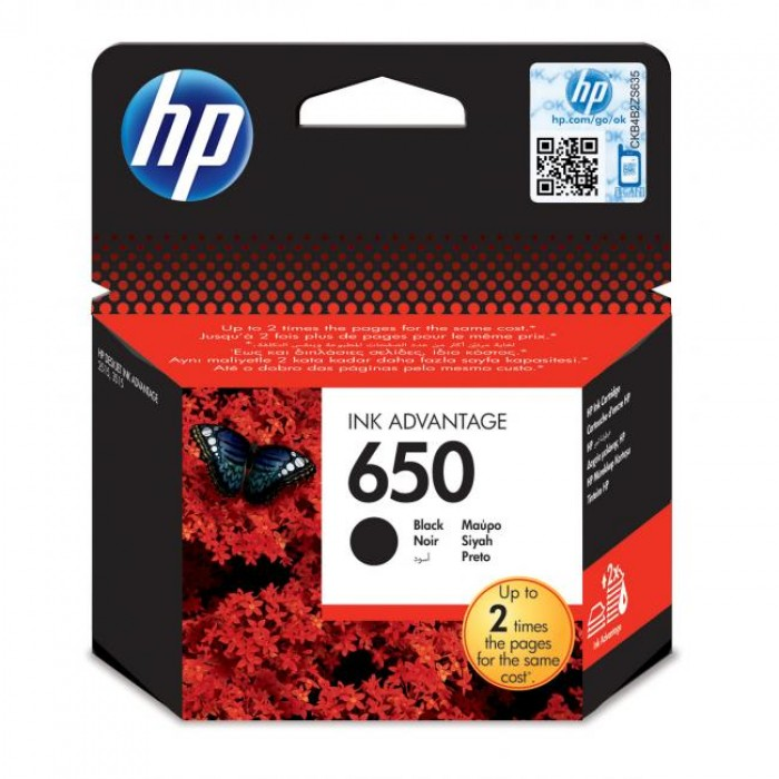 HP 650 Kartuş Siyah 360 Sayfa Model